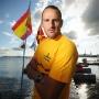 Crédit: Imacom: Jessica Garneau Journaliste: Jean-Guy Rancourt Petar Stoychev gagnant depuis 10 ans de la traversee internationale du Lac Memphremagog